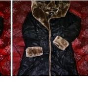 Кожаная куртка с капюшоном и мехом